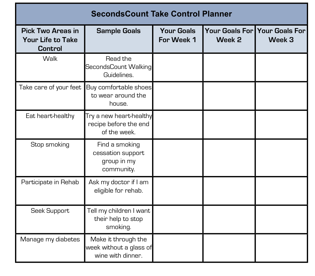 SecondsCount Take Control Planner