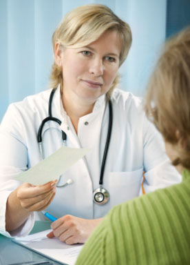 SecondsCount - Medications - Woman doctor writing woman prescription